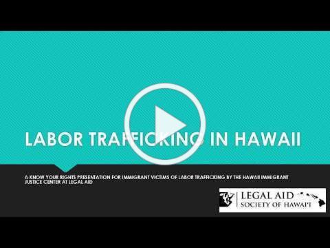 LABOR TRAFFICKING IN HAWAII 2018 (English)