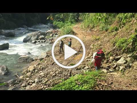 Getting to Eraclio's jungle village by foot