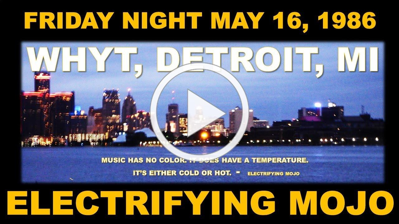DETROIT MICH, FRIDAY NIGHT MAY 16,                   1986 THIS IS EXACTLY WHAT IT SOUNDED LIKE AT 10:00 P.M SHARP!. .