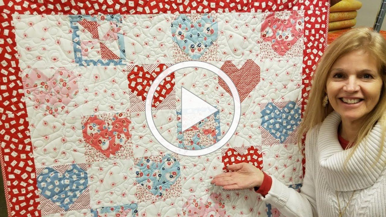 "Donna's SWEET ""Hearts and Pinwheels"" FREE PATTERN Quilt tutorial!"