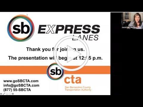 I-10 Express Lanes Webinar - May 27, 2021