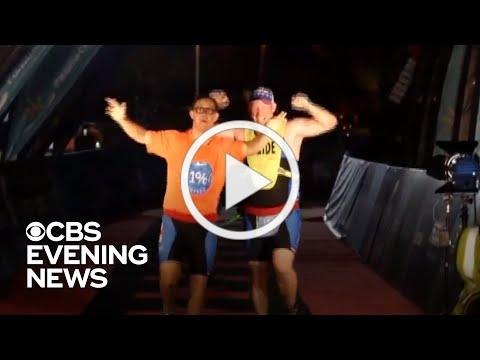 Young man becomes first person with Down syndrome to finish Ironman triathlon