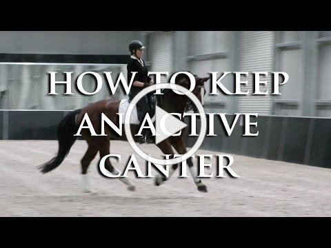HOW DO I KEEP MY LAZY HORSE CANTERING WITHOUT USING LEG ALL THE TIME?-Dressage Mastery TV Episode 93