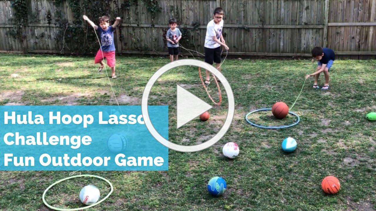 Outdoor Summer Kids Game | Hula Hoop Lasso Challenge | Kids Summer Activity Outdoor Game