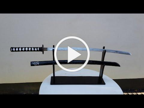 How to make a real steel katana! ( No Forge needed ) - Free templates