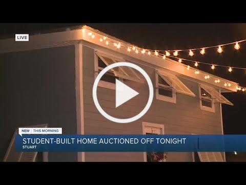 Student-built home to be auctioned off to support at-risk youth