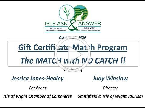 Isle Ask & Answer - #IsleShopSmall Gift Certificate Match Program