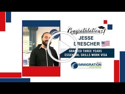 IANZ Client Success Stories   Jesse Drescher   Granted 3-year Essential Skills Work Visa