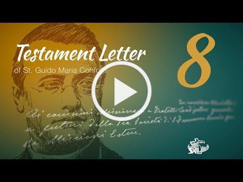 Episode 8: Testament Letter of St Guido Maria Conforti