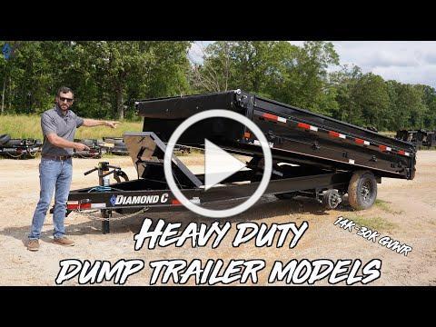Heavy Duty Low Profile Dump Trailer Models (14K-30K GVWR) | Diamond C