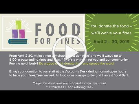 Food for Fines is Back for Seconds!