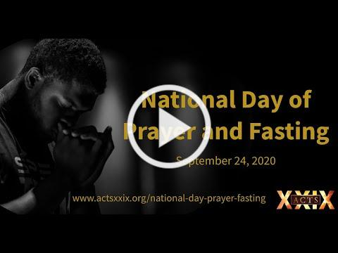 National Day of Prayer and Fasting, September 24, 2020