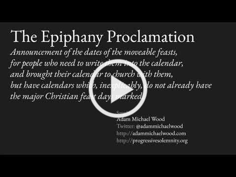 Epiphany Proclamation 2021