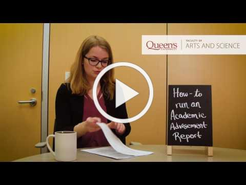 How to Run an Academic Advisement Report