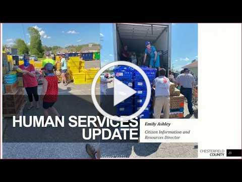 Board of Supervisors 5/27/20 Human Services Update on COVID-19