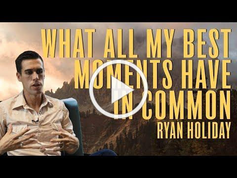 My Life Changed When I Started Making Space For Stillness | Ryan Holiday | Daily Stoic