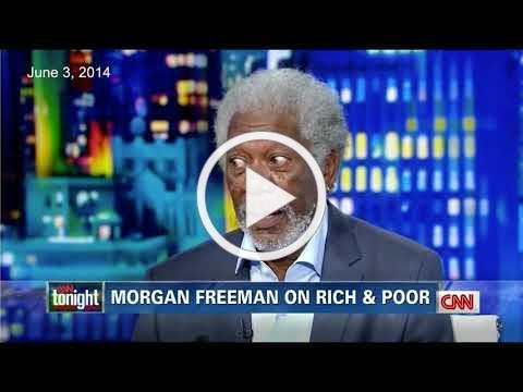Morgan Freeman Rips Up & Burns CNN Host's Race Card