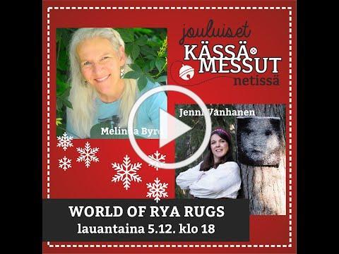 On stage: Melinda Byrd and Jenni Vanhanen - World of Rya Rugs