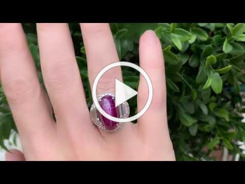 MDJ Advantage - Bulgari estate Burma Star Ruby GIA Cert Natural - Diamond 6 cttws - Dominic Mainella
