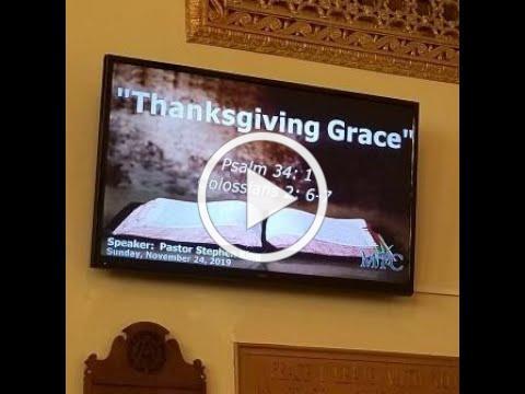 "Sermon: ""Thanksgiving Grace"" (Psalm 34:1; Colossians 2:6-7)"