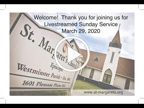 Sunday Service on March 29,2020
