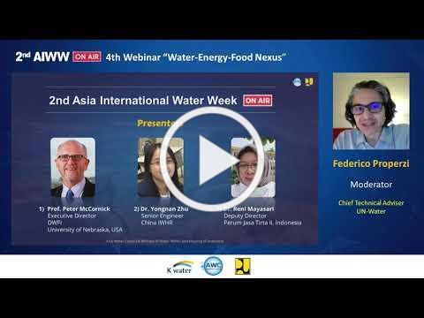 """[2nd AIWW On-Air] 4th Webinar """"Water-Energy-Food Nexus"""""""