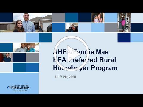 AHFA Lender Training: HFA Preferred Rural Homebuyer Program
