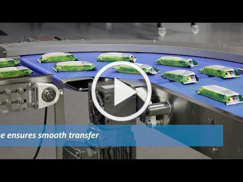 CleanMove Speed Change with Curve Belt Conveyor