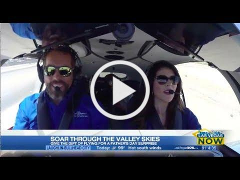 Flight lesson with Mercedes KLAS Channel 8