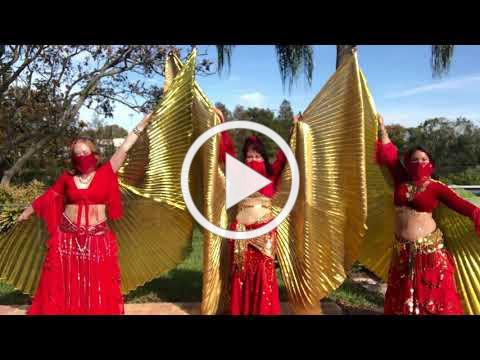 A MAGI Belly Dance Wings & Swords
