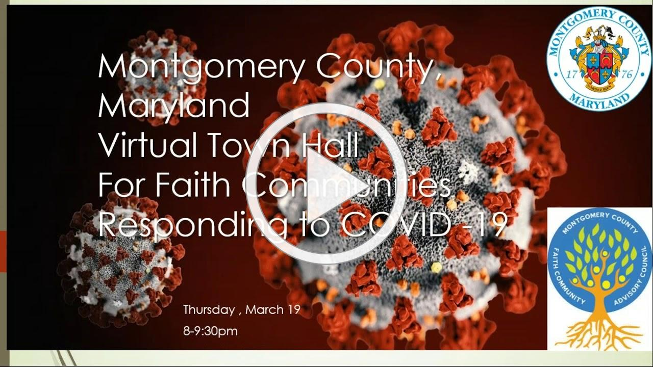 Montgomery County Faith Leaders Town Hall (03/19/2020)