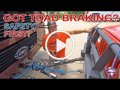 Installing Our Toad's Braking System | M&G Engineering | RV Texas Y'all
