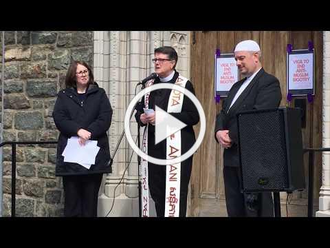 Christians must oppose hate, rector tells vigil