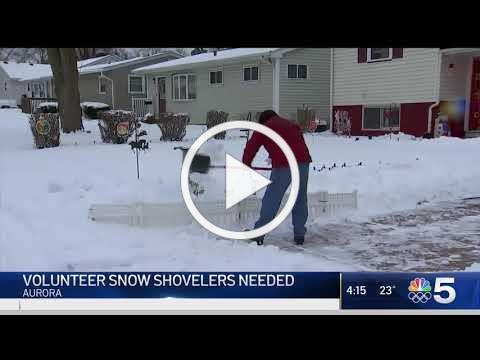 NBC5: Aurora Starts Volunteer Shoveling Program