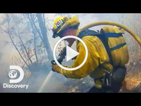 Firefighter's POV Battling California Wildfire   Cal Fire