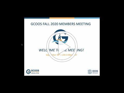 GCOOS Fall Members Meeting 2020