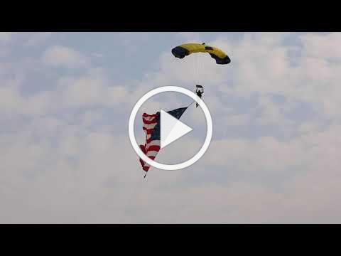US Navy Leap Frogs Parachute Demonstration, Boise, ID 08/26/2021