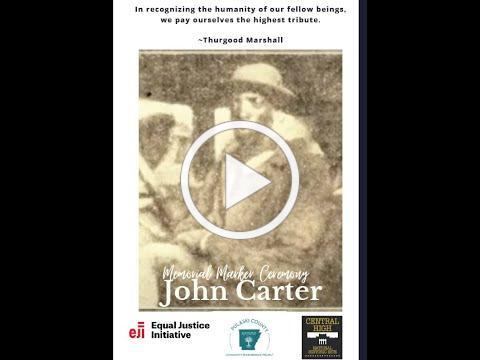 Dedication Ceremony for John Carter Memorial Marker (June 13, 2021)