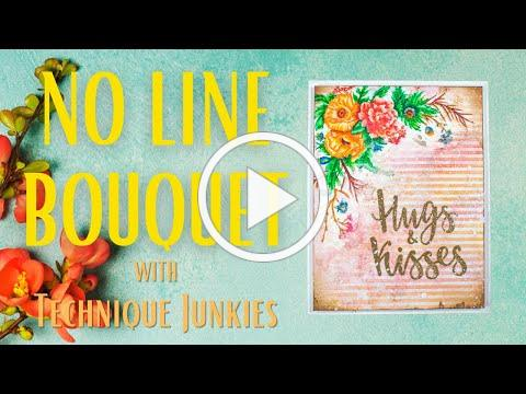 No-Line Coloring with Flower Bouquet | Technique Junkies | Watercolor Markers | NEW March Release