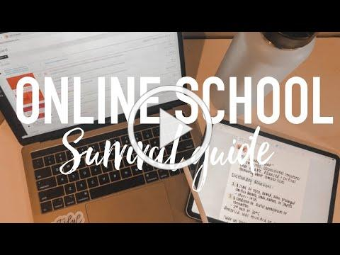 HOW TO SURVIVE ONLINE SCHOOL / COLLEGE / CLASSES