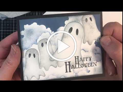 Stenciled Ghosts and Clouds by Technique Junkies