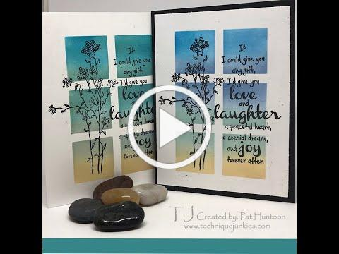 Shadow Stencils Ink Blending by Technique