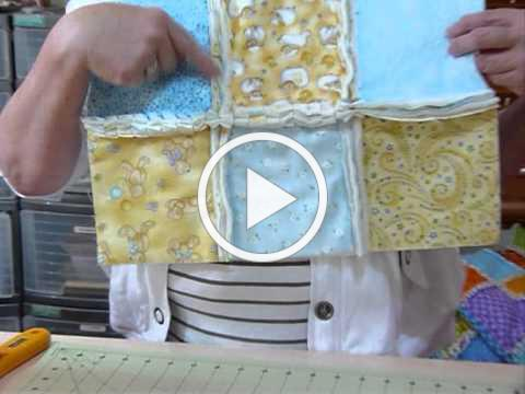 How to make a Raw-Edge Raggy Quilt - Quilting Tips & Techniques 031