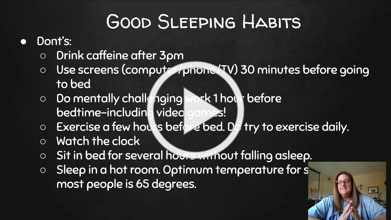 The Do's and Don'ts of Sleep