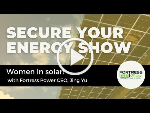 Secure Your Energy Show - Today's Guest Jing Yu CEO of Fortress Pow