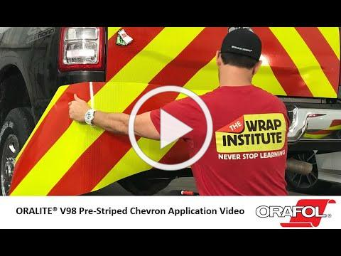 ORALITE V98 Reflective Chevron Striping Application Video - ORAFOL Americas