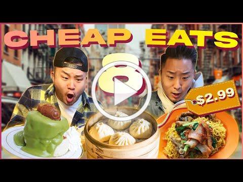 BEST Cheap Eats & HIDDEN GEMS in NEW YORK Pt. 8 VIII (Chinatown)