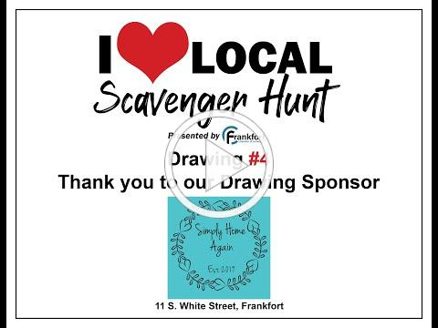 I Love Local Scavenger Hunt Week #4 Drawing