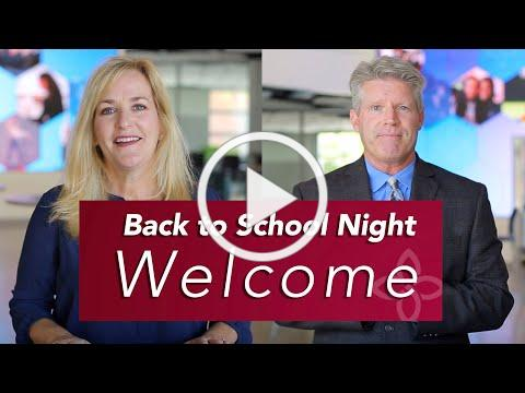 Back to School Night Welcome