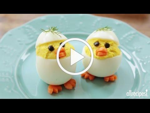 How to Make Easter Chick Deviled Eggs | Easter Recipes | AllRecipes